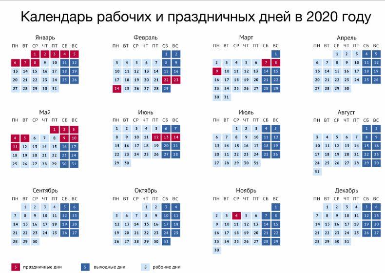 Производственный календарь праздников 2018 год