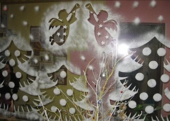 Трафареты на окна новый год 2016 своими