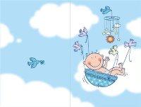 Открытка с новорожденным малышом!