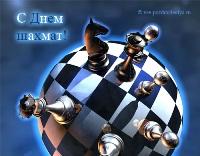Прикольная открытка с Международным днем шахмат